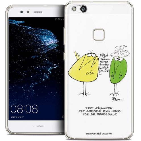 "Coque Gel Huawei P10 LITE (5.2"") Extra Fine Les Shadoks® - Le Dialogue"