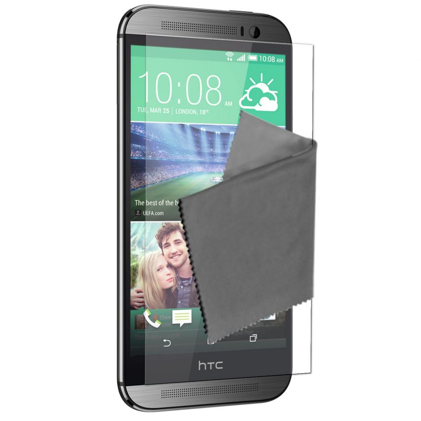 Visuel unique de Films de protection HTC One M8 Clubcase ® HD Lot de 5
