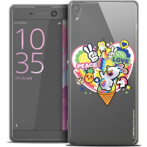 "Coque Xperia XA Ultra 6"" Extra Fine Lapins Crétins™ - Peace And Love"
