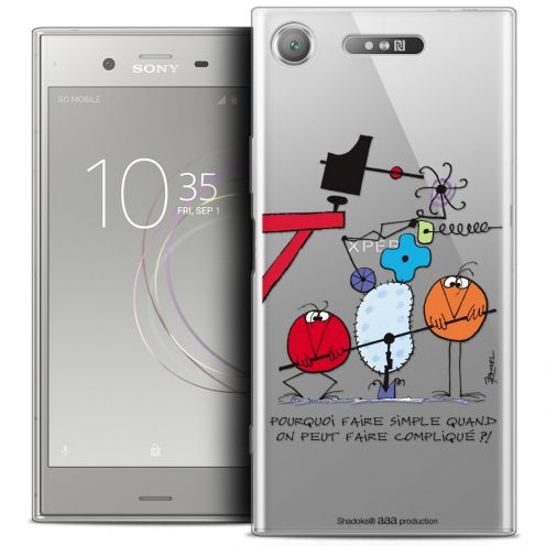 "Coque Gel Sony Xperia XZ1 (5.2"") Extra Fine Les Shadoks® - Pourquoi faire Simple"