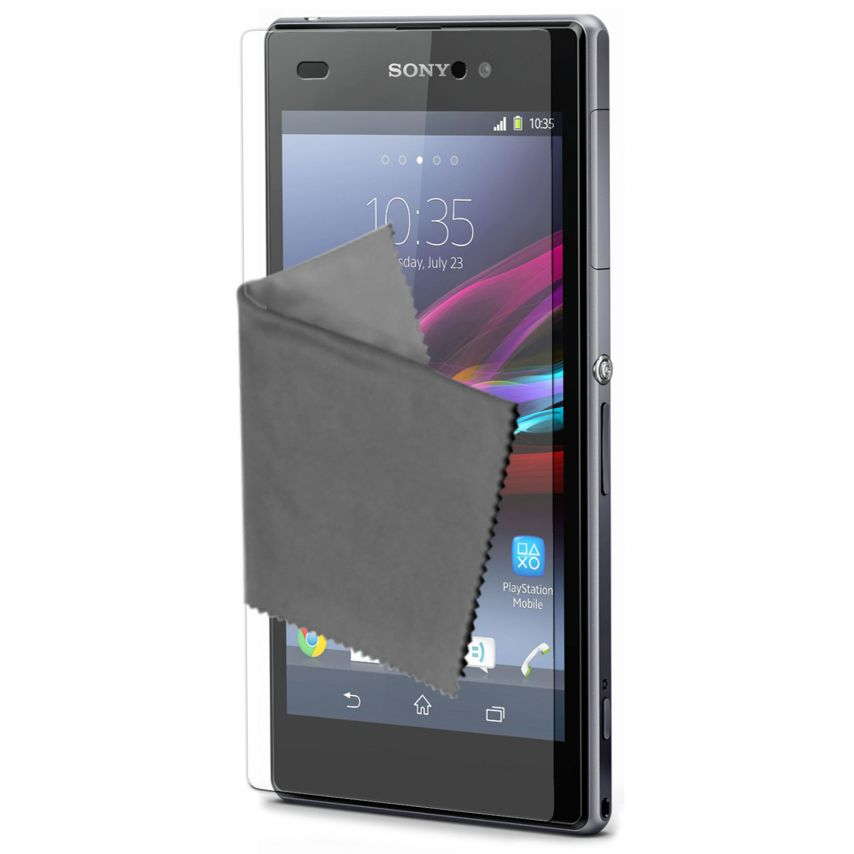 Visuel unique de Films de protection anti traces de doigts Xperia Z1 Clubcase ® Lot de 2