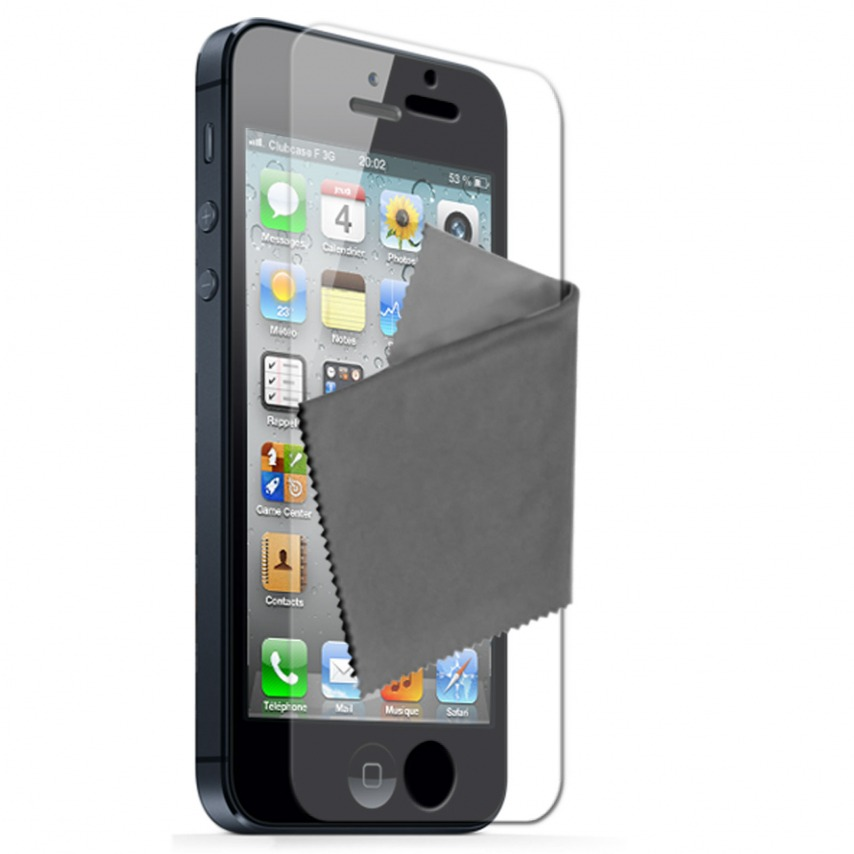 Visuel unique de Films de protection anti traces de doigts iPhone 5 / 5S Clubcase ® Lot de 2