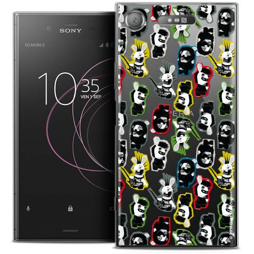"""Coque Gel Sony Xperia XZ1 (5.2"""") Extra Fine Lapins Crétins™ - Punk Pattern"""