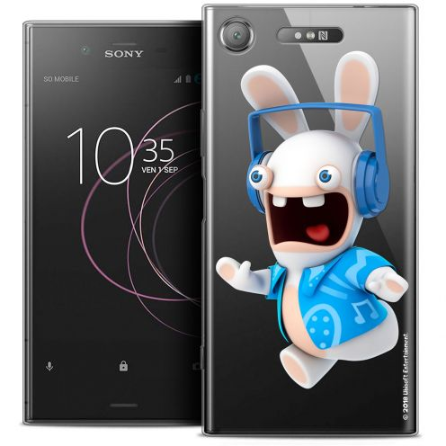 """Coque Gel Sony Xperia XZ1 (5.2"""") Extra Fine Lapins Crétins™ - Techno Lapin"""