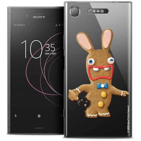 """Coque Gel Sony Xperia XZ1 (5.2"""") Extra Fine Lapins Crétins™ - Cookie"""