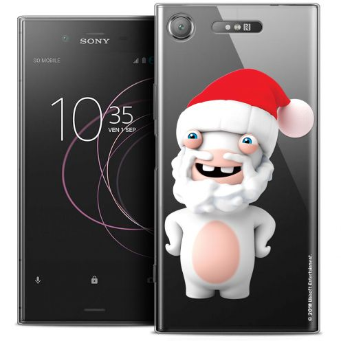 "Coque Gel Sony Xperia XZ1 (5.2"") Extra Fine Lapins Crétins™ - Lapin Noël"