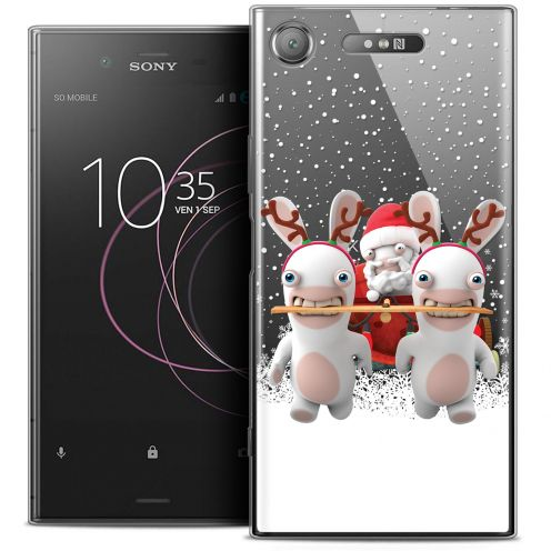 "Coque Gel Sony Xperia XZ1 (5.2"") Extra Fine Lapins Crétins™ - Lapin Traineau"