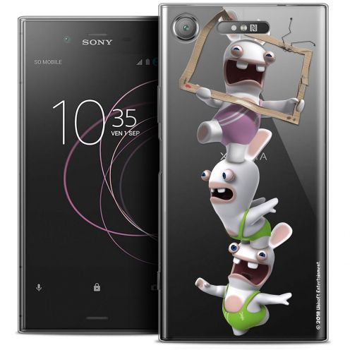 "Coque Gel Sony Xperia XZ1 (5.2"") Extra Fine Lapins Crétins™ - TV Sport"