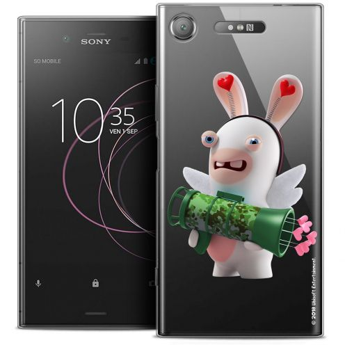 "Coque Gel Sony Xperia XZ1 (5.2"") Extra Fine Lapins Crétins™ - Cupidon Soldat"