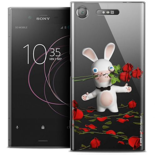 "Coque Gel Sony Xperia XZ1 (5.2"") Extra Fine Lapins Crétins™ - Gentleman Crétin"
