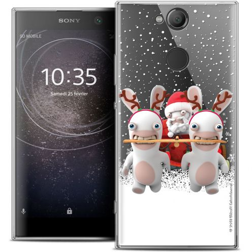 """Coque Gel Sony Xperia XA2 (5.2"""") Extra Fine Lapins Crétins™ - Lapin Traineau"""