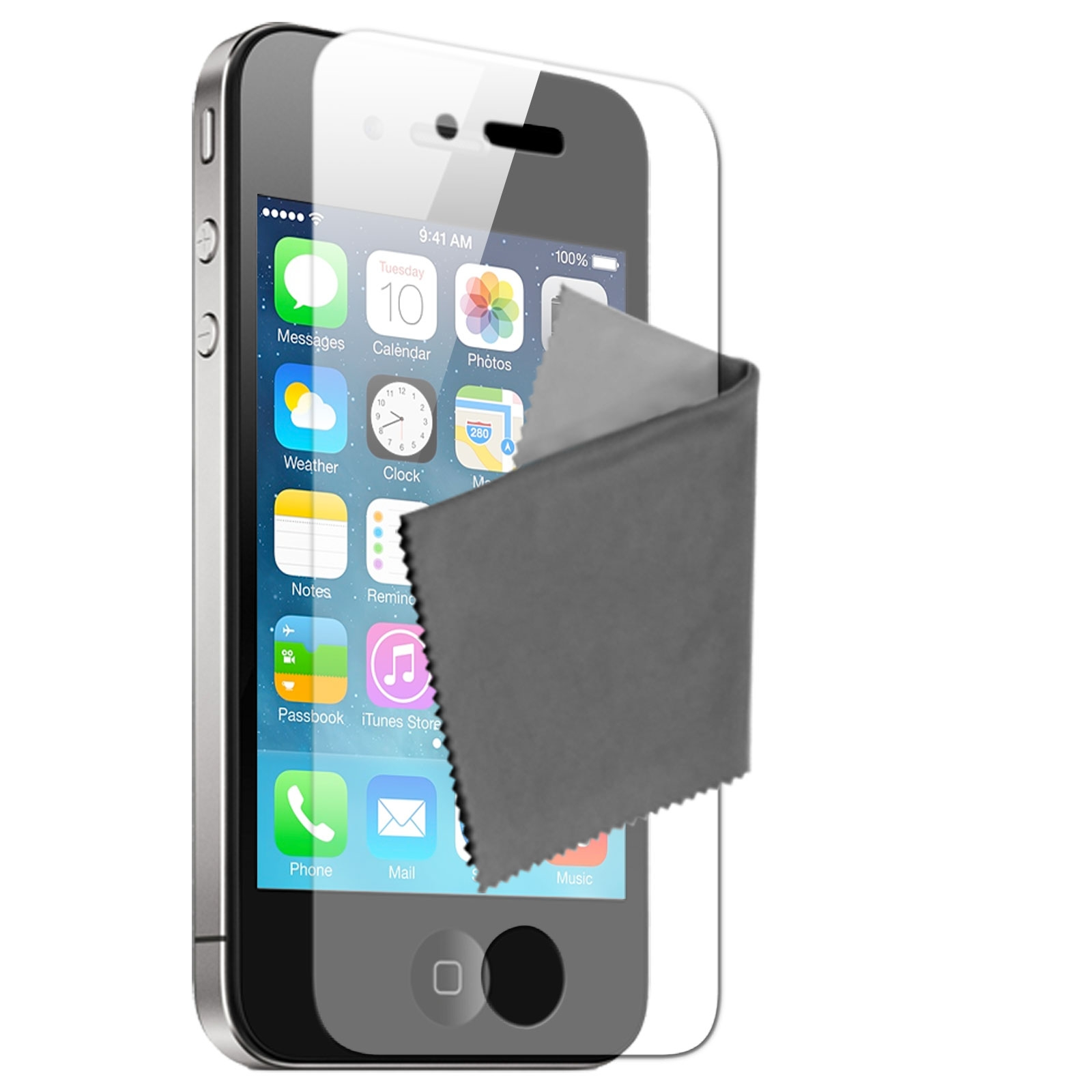 10 films de protection hq miroir iphone 4 4s for Application miroir pour iphone