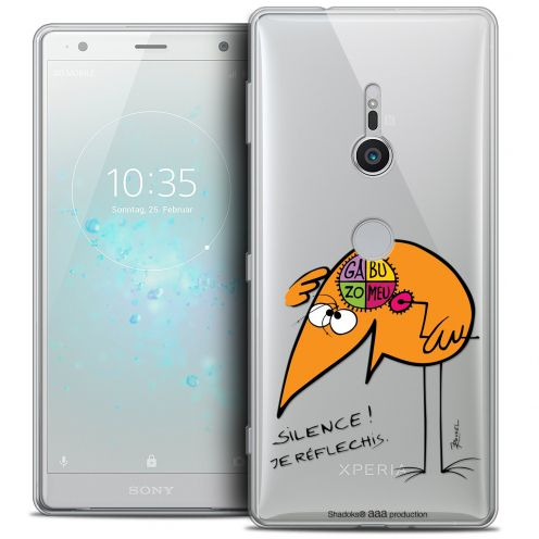 "Coque Gel Sony Xperia XZ2 (5.7"") Extra Fine Les Shadoks® - Silence !"
