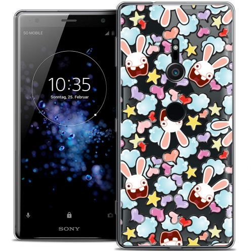 """Coque Gel Sony Xperia XZ2 (5.7"""") Extra Fine Lapins Crétins™ - Love Pattern"""
