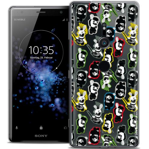 """Coque Gel Sony Xperia XZ2 (5.7"""") Extra Fine Lapins Crétins™ - Punk Pattern"""