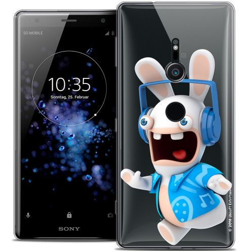 """Coque Gel Sony Xperia XZ2 (5.7"""") Extra Fine Lapins Crétins™ - Techno Lapin"""