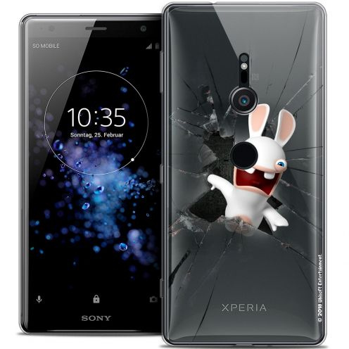 """Coque Gel Sony Xperia XZ2 (5.7"""") Extra Fine Lapins Crétins™ - Breaking Glass"""