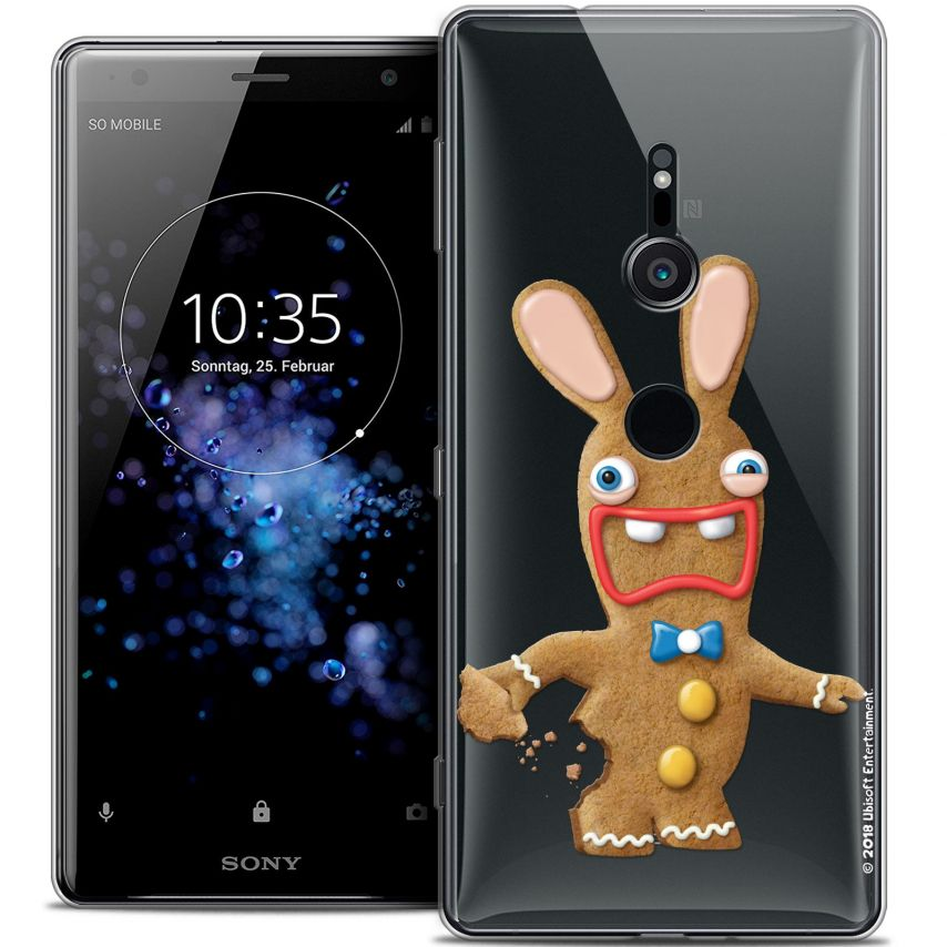 """Coque Gel Sony Xperia XZ2 (5.7"""") Extra Fine Lapins Crétins™ - Cookie"""