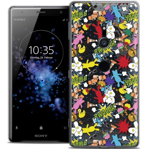 "Coque Gel Sony Xperia XZ2 (5.7"") Extra Fine Lapins Crétins™ - Bwaaah Pattern"