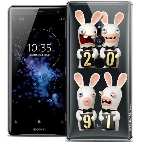 """Coque Gel Sony Xperia XZ2 (5.7"""") Extra Fine Lapins Crétins™ - New Year"""