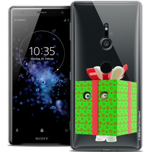 """Coque Gel Sony Xperia XZ2 (5.7"""") Extra Fine Lapins Crétins™ - Lapin Surprise Vert"""