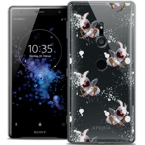 """Coque Gel Sony Xperia XZ2 (5.7"""") Extra Fine Lapins Crétins™ - Cupidon Pattern"""
