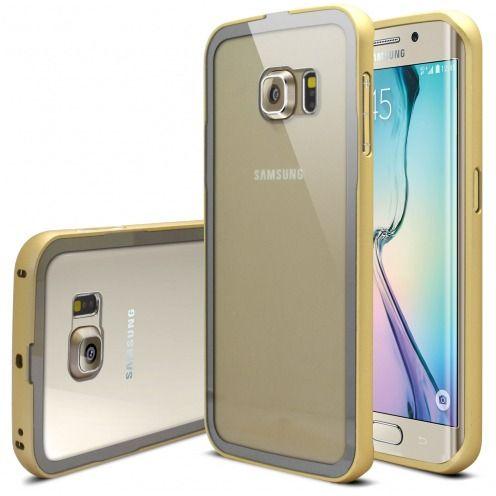 Bumper Samsung Galaxy S6 Edge Glass Aluminium Champagne