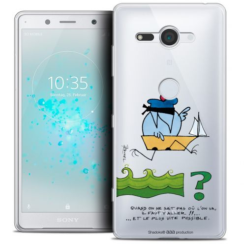 "Coque Gel Sony Xperia XZ2 Compact (5.0"") Extra Fine Les Shadoks® - Il Faut Y Aller !!"