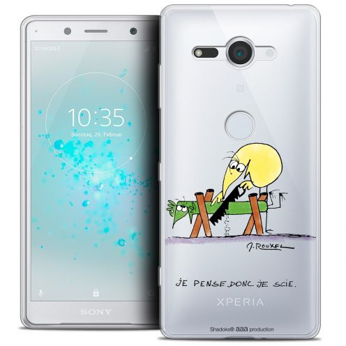 "Coque Gel Sony Xperia XZ2 Compact (5.0"") Extra Fine Les Shadoks® - Je pense Donc"