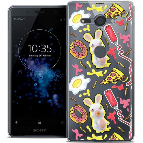"""Coque Gel Sony Xperia XZ2 Compact (5.0"""") Extra Fine Lapins Crétins™ - Egg Pattern"""