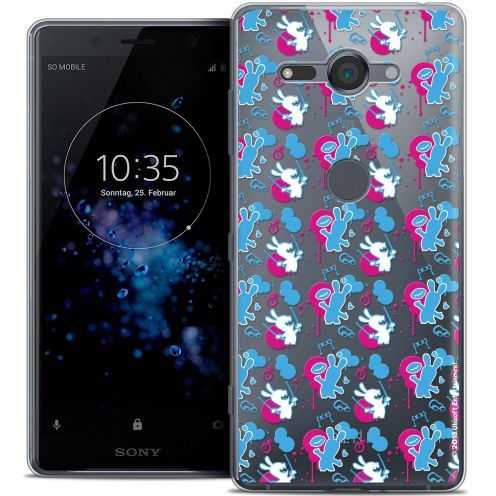 """Coque Gel Sony Xperia XZ2 Compact (5.0"""") Extra Fine Lapins Crétins™ - Rugby Pattern"""