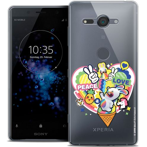 """Coque Gel Sony Xperia XZ2 Compact (5.0"""") Extra Fine Lapins Crétins™ - Peace And Love"""
