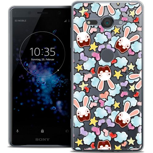 """Coque Gel Sony Xperia XZ2 Compact (5.0"""") Extra Fine Lapins Crétins™ - Love Pattern"""