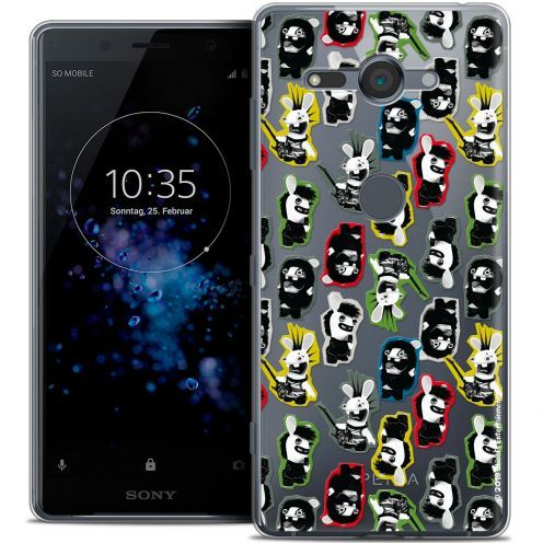 """Coque Gel Sony Xperia XZ2 Compact (5.0"""") Extra Fine Lapins Crétins™ - Punk Pattern"""