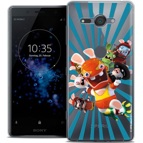 """Coque Gel Sony Xperia XZ2 Compact (5.0"""") Extra Fine Lapins Crétins™ - Super Heros"""