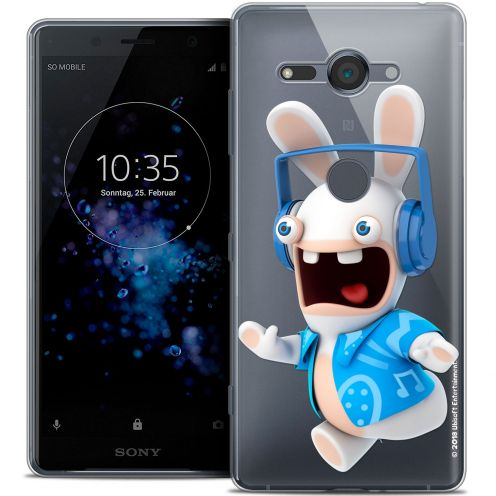"""Coque Gel Sony Xperia XZ2 Compact (5.0"""") Extra Fine Lapins Crétins™ - Techno Lapin"""