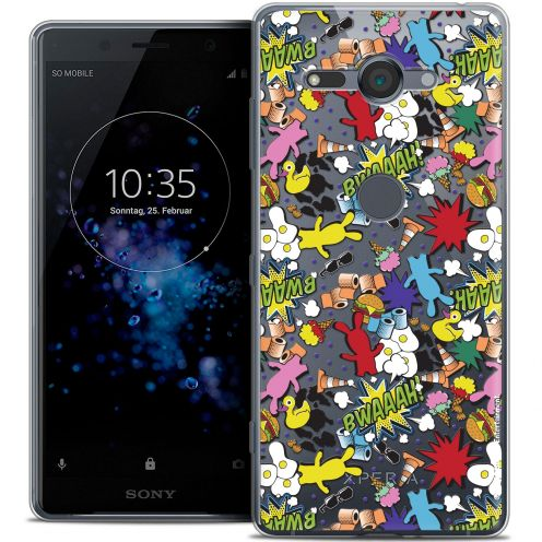 """Coque Gel Sony Xperia XZ2 Compact (5.0"""") Extra Fine Lapins Crétins™ - Bwaaah Pattern"""