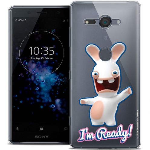 """Coque Gel Sony Xperia XZ2 Compact (5.0"""") Extra Fine Lapins Crétins™ - I'm Ready !"""