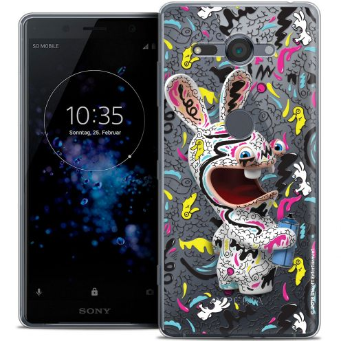 """Coque Gel Sony Xperia XZ2 Compact (5.0"""") Extra Fine Lapins Crétins™ - Tag"""