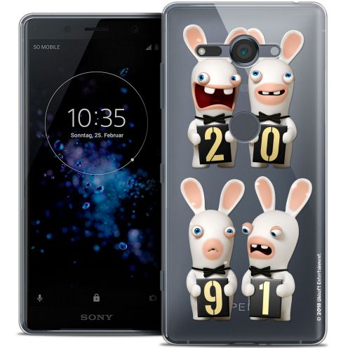 """Coque Gel Sony Xperia XZ2 Compact (5.0"""") Extra Fine Lapins Crétins™ - New Year"""