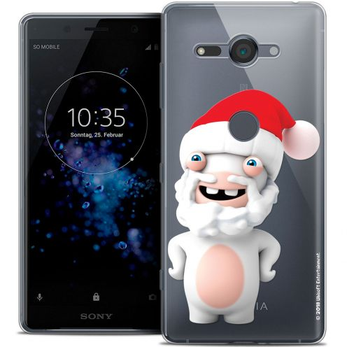 """Coque Gel Sony Xperia XZ2 Compact (5.0"""") Extra Fine Lapins Crétins™ - Lapin Noël"""