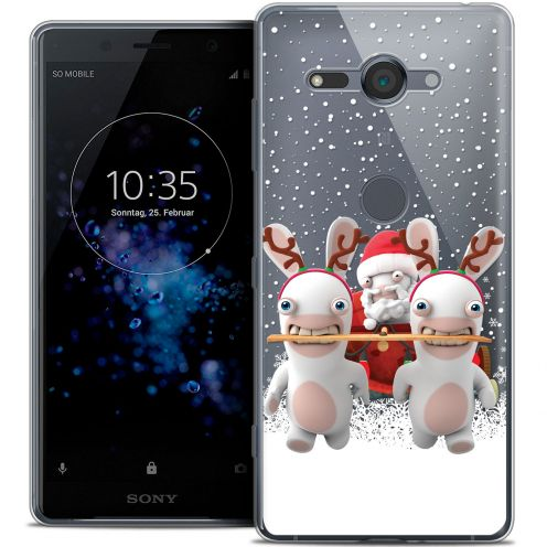 """Coque Gel Sony Xperia XZ2 Compact (5.0"""") Extra Fine Lapins Crétins™ - Lapin Traineau"""