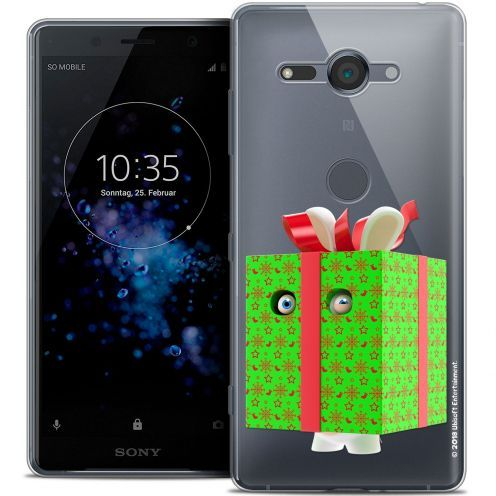 """Coque Gel Sony Xperia XZ2 Compact (5.0"""") Extra Fine Lapins Crétins™ - Lapin Surprise Vert"""