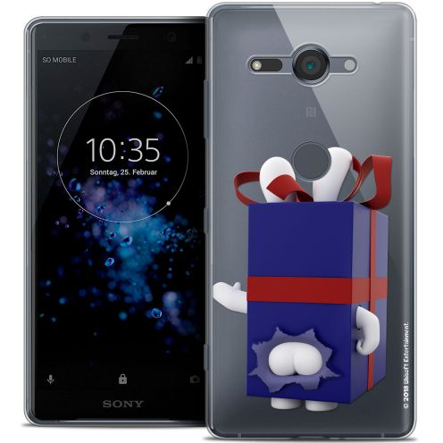 """Coque Gel Sony Xperia XZ2 Compact (5.0"""") Extra Fine Lapins Crétins™ - Lapin Surprise Bleu"""