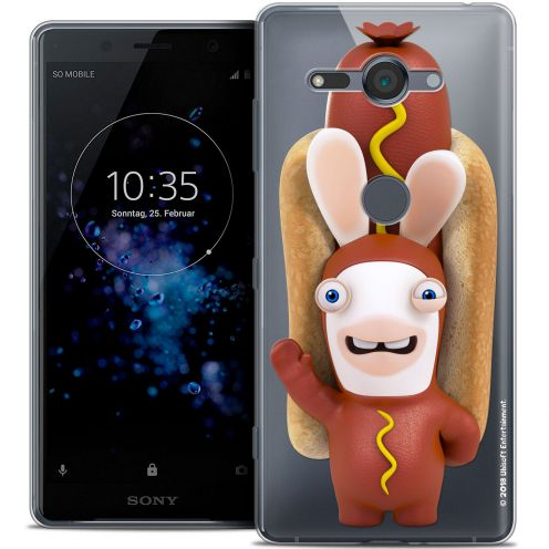 """Coque Gel Sony Xperia XZ2 Compact (5.0"""") Extra Fine Lapins Crétins™ - Hot Dog Crétin"""