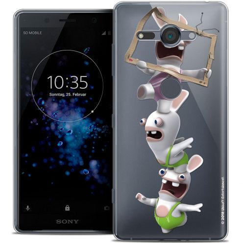 """Coque Gel Sony Xperia XZ2 Compact (5.0"""") Extra Fine Lapins Crétins™ - TV Sport"""