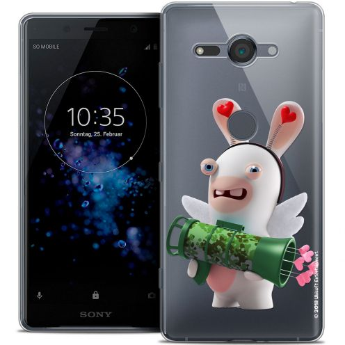"""Coque Gel Sony Xperia XZ2 Compact (5.0"""") Extra Fine Lapins Crétins™ - Cupidon Soldat"""