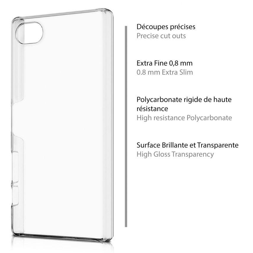 Vue portée de Coque Sony Xperia Z5 Compact Crystal Extra Fine Transparente