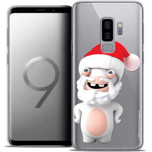 "Coque Gel Samsung Galaxy S9+ (6.2"") Extra Fine Lapins Crétins™ - Lapin Noël"