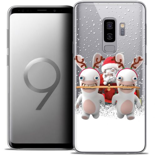 "Coque Gel Samsung Galaxy S9+ (6.2"") Extra Fine Lapins Crétins™ - Lapin Traineau"